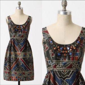 Anthropologie Anna Sui Tesserae Mossic Dress-h6